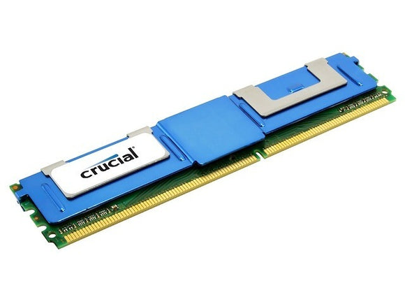 Crucial 8GB (1x 8GB) DDR2-667 PC2-5300 1.8V DR x4 ECC Fully Buffered 240-pin FB-DIMM RAM Module