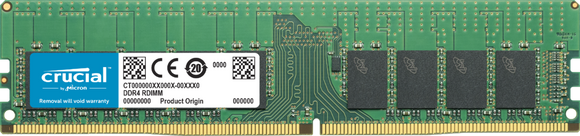Crucial 16GB (1x 16GB) DDR4-2666 PC4-21300 1.2V DR x8 ECC Registered 288-pin RDIMM RAM Module