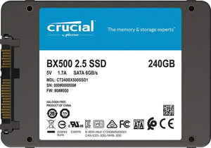 "Crucial BX500 240GB 2.5"" 7mm SATA III Internal SSD"