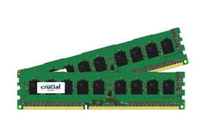 Crucial 16GB (2x 8GB) DDR3L-1600 PC3L-12800 1.35V / 1.5V DR x8 240-pin UDIMM RAM Kit