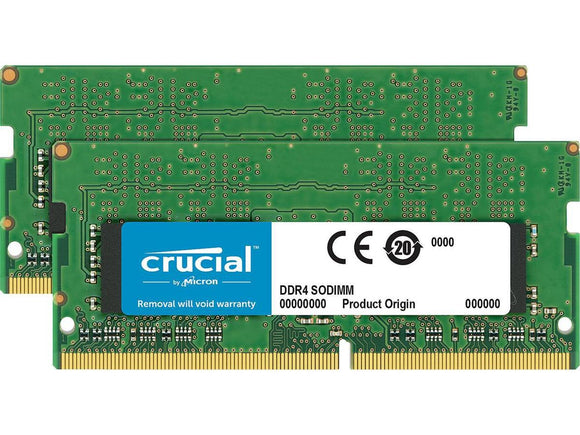 Crucial 32GB (2x 16GB) CL17 DDR4-2400 PC4-19200 1.2V DR x8 260-pin SODIMM RAM Kit for Mac (or PC)
