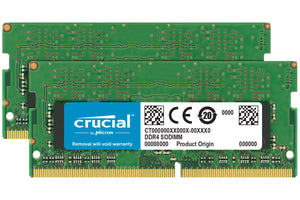 Crucial 32GB (2x 16GB) DDR4-2400 PC4-19200 1.2V DR x8 260-pin SODIMM RAM Kit