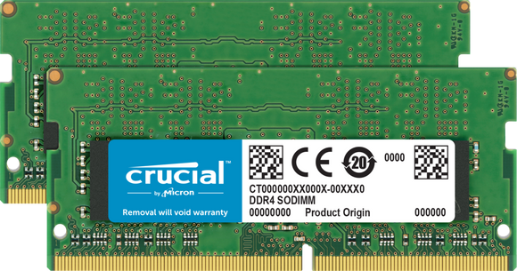 Crucial 32GB (2x 16GB) DDR4-2666 PC4-21300 1.2V DR x8 260-pin SODIMM RAM Kit