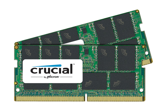 Crucial 32GB (2x 16GB) DDR4-2400 PC4-19200 1.2V DR x8 ECC 260-pin SODIMM RAM Kit