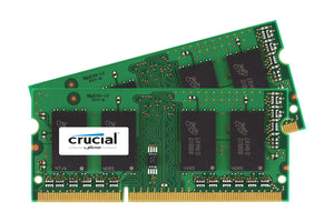 Crucial 8GB (2x 4GB) CL9 DDR3L-1333 PC3L-10600 1.35V / 1.5V DR x8 204-pin SODIMM RAM Kit for Mac (or PC)