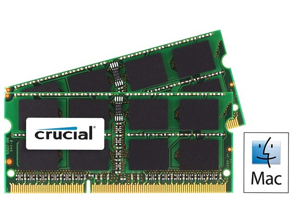 Crucial 8GB (2x 4GB) CL11 DDR3L-1600 PC3L-12800 1.35V / 1.5V DR x8 204-pin SODIMM RAM Kit for Mac (or PC)