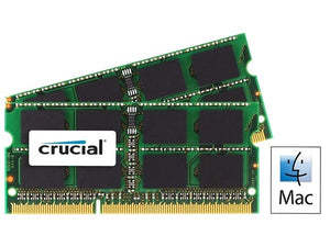 Crucial 16GB (2x 8GB) CL9 DDR3L-1333 PC3L-10600 1.35V / 1.5V DR x8 204-pin SODIMM RAM Kit for Mac (or PC)
