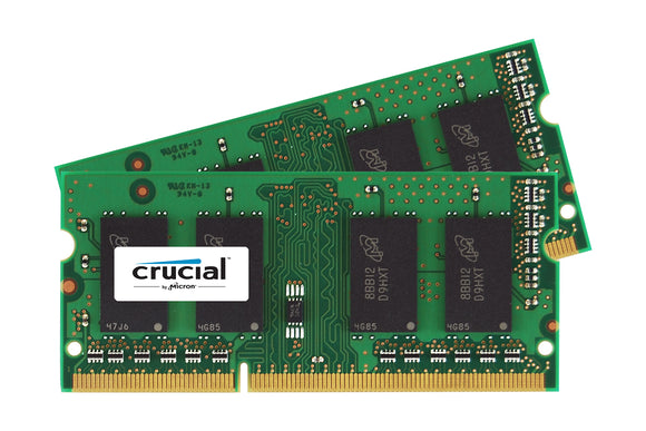 Crucial 16GB (2x 8GB) CL13 DDR3L-1866 PC3L-14900 1.35V / 1.5V DR x8 204-pin SODIMM RAM Kit for Mac (or PC)