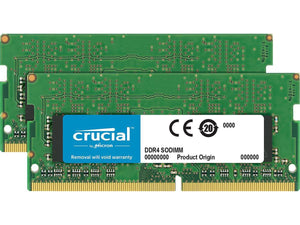 Crucial 16GB (2x 8GB) CL17 DDR4-2400 PC4-19200 1.2V SR x8 260-pin SODIMM RAM Kit for Mac (or PC)