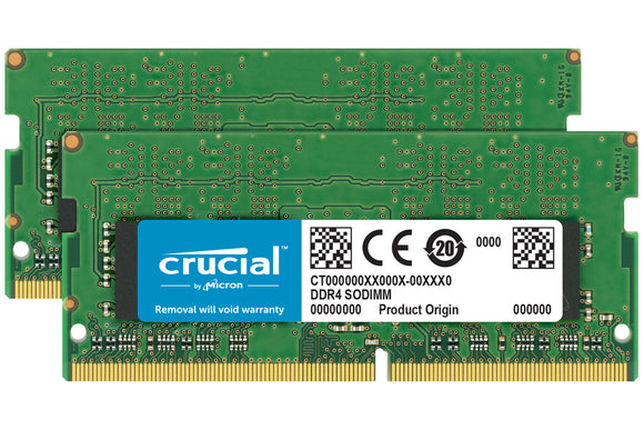 Crucial 16GB (2x 8GB) DDR4-2400 PC4-19200 1.2V SR x8 260-pin SODIMM RAM Kit