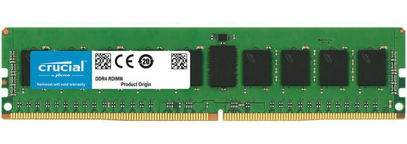 Crucial 32GB (1x 32GB) DDR4-2666 PC4-21300 1.2V DR x4 ECC Registered 288-pin RDIMM RAM Module