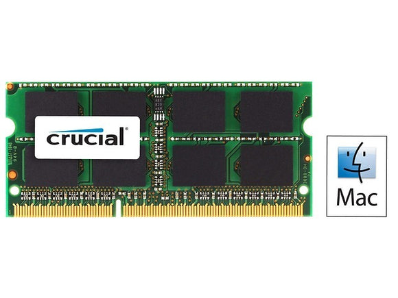 Crucial 4GB (1x 4GB) CL7 DDR3L-1066 PC3L-8500 1.35V / 1.5V DR x8 204-pin SODIMM RAM Module for Mac (or PC)