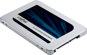 "Crucial MX500 500GB 2.5"" 7mm SATA III Internal SSD (with 7mm to 9.5mm spacer)"