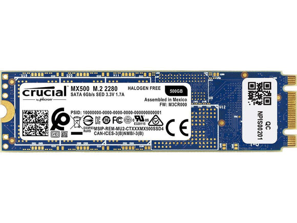 Crucial MX500 500GB M.2 80mm (2280) SATA III Internal SSD