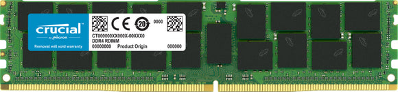 Crucial 64GB (1x 64GB) DDR4-2666 PC4-21300 1.2V QR x4 ECC Registered 288-pin RDIMM RAM Module