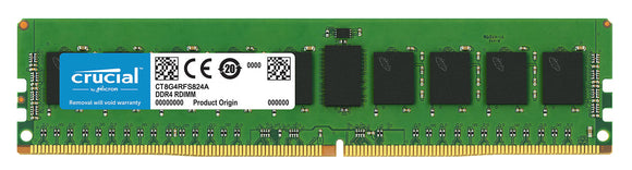 Crucial 8GB (1x 8GB) DDR4-2400 PC4-19200 1.2V SR x8 ECC Registered 288-pin RDIMM RAM Module