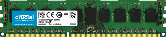 Crucial 8GB (1x 8GB) DDR4-2666 PC4-21300 1.2V SR x8 ECC Registered 288-pin RDIMM RAM Module