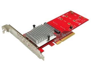 Lycom Dual M.2 PCIe SSD to PCIe 3.0 x8 HHHL carrier / adapter