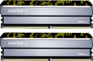G.SKILL Sniper X 32GB (2x 16GB) CL19 DDR4-3600 PC4-28800 1.2V 288-pin UDIMM Gaming RAM Kit (with Black Header)