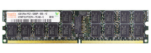 Hynix 4GB (1x 4GB) DDR2-667 PC2-5300 1.8V DR x4 ECC Registered 240-pin RDIMM RAM Module