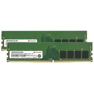 Transcend JetRam 32GB (2x 16GB) DDR4-3200 PC4-25600 1.2V 288-pin UDIMM RAM Kit