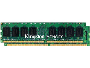 Kingston 2GB (2x 1GB) DDR2-667 PC2-5300 1.8V SR ECC Registered 240-pin RDIMM RAM Kit