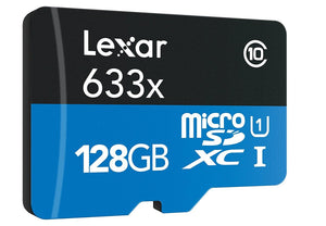 Lexar High Performance 633x 128GB microSDXC UHS-I Card - Upto 95MB/s U3 C10 V30