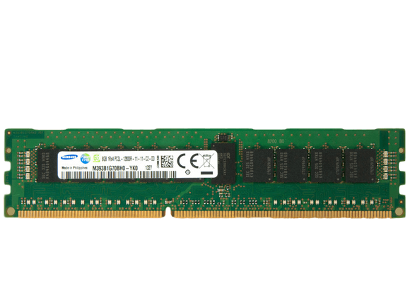 Samsung 8GB (1x 8GB) DDR3L-1600 PC3L-12800 1.35V / 1.5V SR x4 ECC Registered 240-pin RDIMM RAM Module