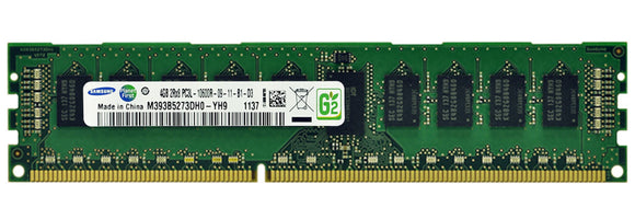 Samsung 4GB (1x 4GB) DDR3L-1333 PC3L-10600 1.35V / 1.5V DR x8 ECC Registered 240-pin RDIMM RAM Module