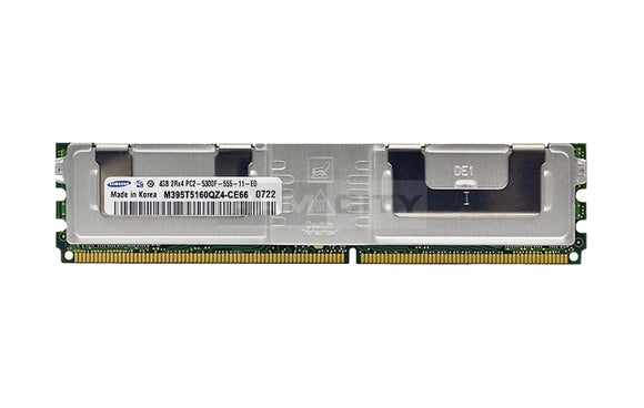 Samsung 4GB (1x 4GB) DDR2-667 PC2-5300 1.8V DR x4 ECC Fully Buffered 240-pin FB-DIMM RAM Module