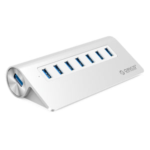 ORICO Aluminium 7 Port USB 3.0 Hub w/ 36W (12V/2.5A) Power Adapter w/ 1m USB 3.0 Type-A Cable