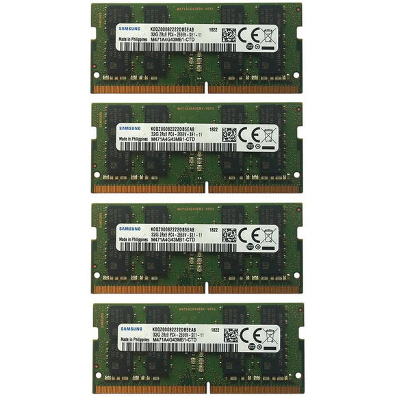 Samsung 128GB (4x 32GB) DDR4-2666 PC4-21300 1.2V DR x8 260-pin SODIMM RAM Kit