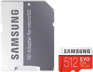 Samsung 512GB EVO PLUS MicroSD 100MB/s, 90M/s, 4-Proof Protection, UHS-I/HS/Grade 3/Class 10
