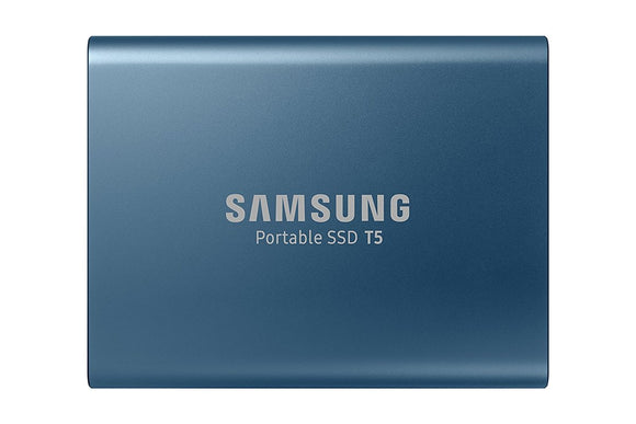 Samsung T5 250GB Portable External SSD with 30cm USB 3.1 Type-C & Type-A Cable