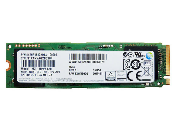 Samsung SM951 512GB AHCI M.2 PCIe 3.0 x4 80mm (2280) Internal SSD - OEM