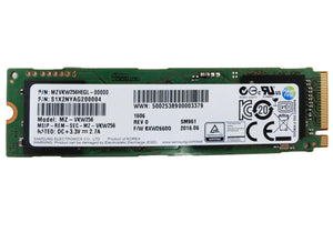 Samsung SM961 256GB NVMe M.2 PCIe 3.0 x4 80mm (2280) Internal SSD - OEM