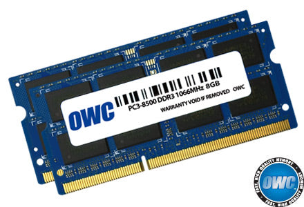 OWC 16GB (2x 8GB) DDR3-1066 PC3-8500 1.5V DR x8 204-pin SODIMM RAM Module for Mac (or PC)
