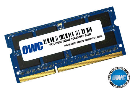 OWC 8GB (1x 8GB) DDR3-1066 PC3-8500 1.5V DR x8 204-pin SODIMM RAM Module for Mac (or PC)
