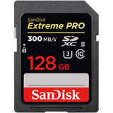 SanDisk Extreme Pro 128GB UHS-II U3 4K Video SD Card