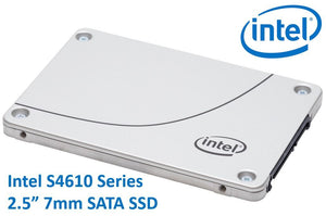 "Intel DC S4610 2.5"" 480GB SSD SATA3 6Gbps 3D2 TCL 7mm 560R/510W MB/s 96K/45K IOPS 3xDWPD 2 Mil Hrs MTBF Data Center Server 5yrs Wty ~HBI-S4600-480GB"