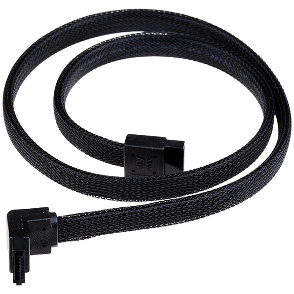 SilverStone Black 500mm 90 to 180 Degree Connector SATA III Cable With Locking Mechanism