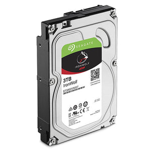 "Seagate 3TB IronWolf NAS 3.5"" 5900RPM SATA3 6Gb/s 64MB HDD. 3 Years Warranty"