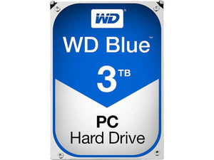"WD Blue 3TB 5400RPM 64MB Cache SATA 6.0Gb/s 3.5"" Desktop Internal Hard Drive"