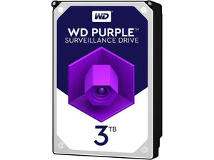 "WD Purple 3TB 5400RPM 64MB Cache SATA 6.0Gb/s 3.5"" Surveillance Internal Hard Drive"