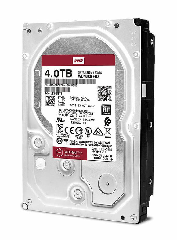 WD Red Pro 4TB 7200 RPM 256MB Cache SATA 6.0 Gb/s 3.5