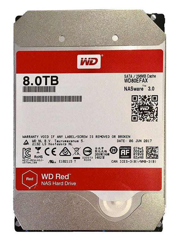 WD Red 8TB 5400RPM 128MB Cache SATA 6.0Gb/s 3.5