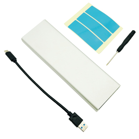 UpgradeX M.2 NVMe SSD cloning case with USB-A cable