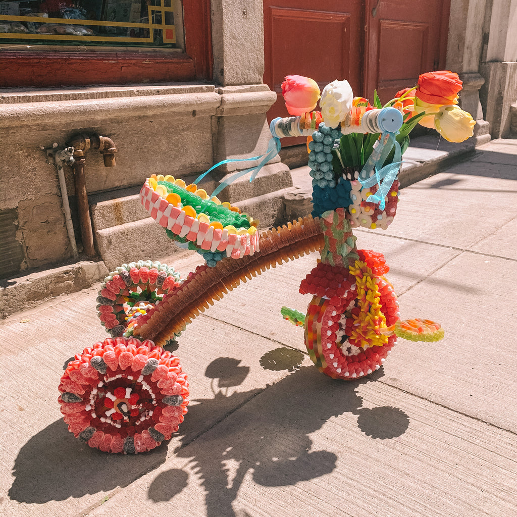Tricycle en bonbon