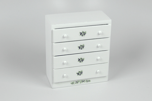 Chest of Drawers with Floral Decal
