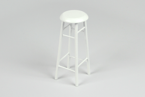 Tall White Stool